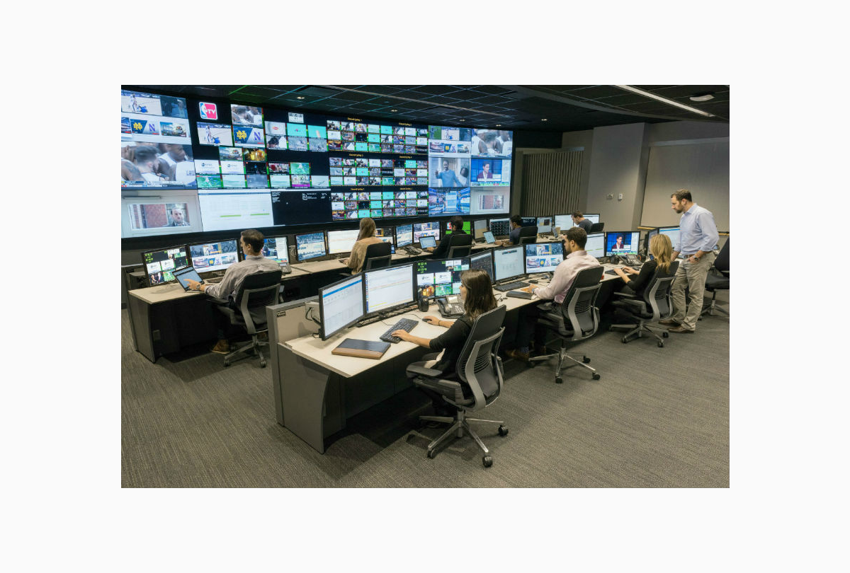 24/7 command center furniture and video wall