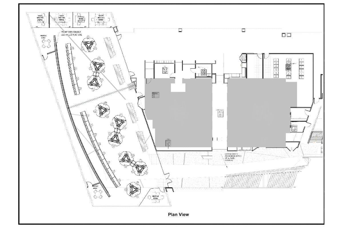 plan overview for operations center featuring furniture layout