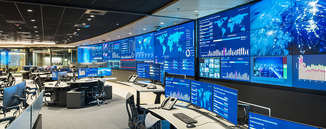 operations center with large video wall